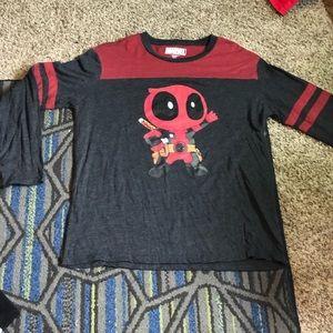Marvel Deadpool cartoon long sleeve shirt